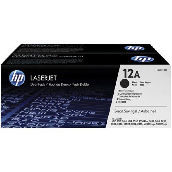HP Toner 1010/1012/ 1015/1018/1020/1022/3020/ 3030/3015/3050/3052/3055/M1005, dual pack  [Q2612AD]