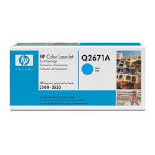 HP Toner Cyan CLJ 3500/3550  [Q2671A]