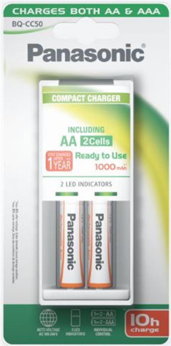PANASONIC punjač BQ-CC50E1KA*2 P6E1000