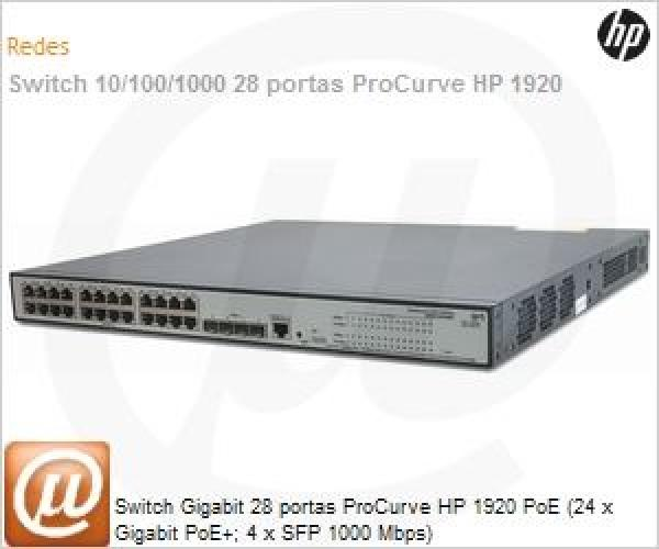 NET HP 1920-24G-PoE+(370W) Switch,JG926AR