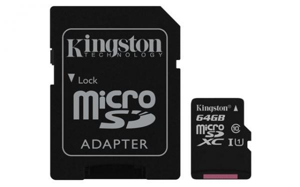 Memorijska kartica  Kingston SD MICRO 64GB Class 10 UHS-I + ad