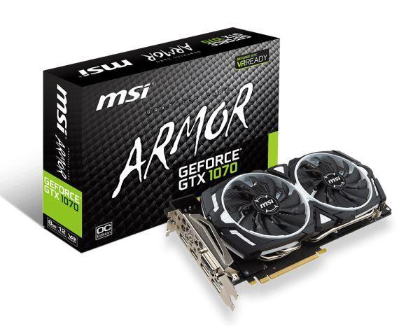 VGA PCIe MSI GTX 1070 ARMOR 8G OC