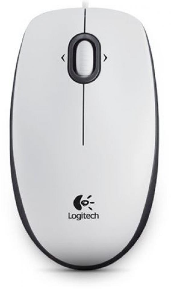 MIŠ LOGITECH B100 Optical USB Mouse OEM  White 910-003360