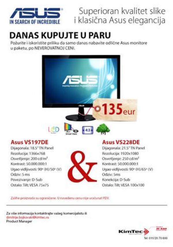 Kupujte u paru ASUS bundle VS197DE+VS228DE