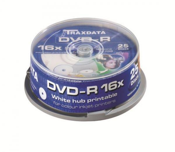 MED DVD disk TRX DVD-R 16X PRN F CAKE 25 WHITE