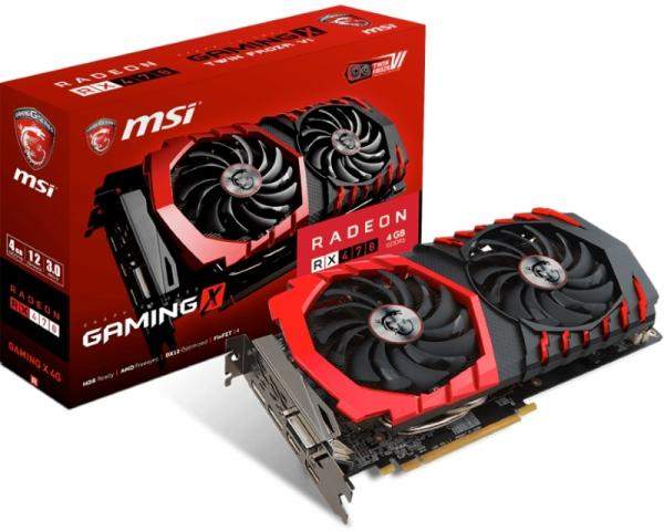 MSI AMD Radeon RX 470 4GB 256bit RX 470 GAMING X 4G