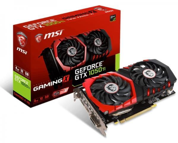 MSI nVidia GeForce GTX 1050 Ti 4GB 128bit GTX 1050 Ti GAMING 4G