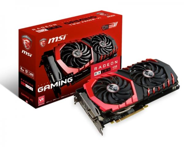 MSI AMD Radeon RX 480 4GB 256bit RX 480 GAMING 4G