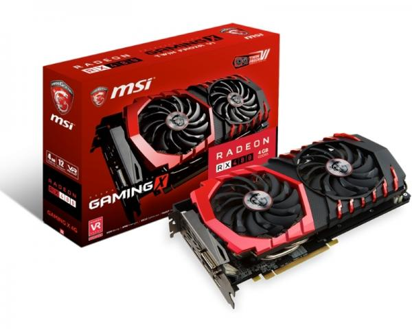 MSI AMD Radeon RX 480 4GB 256bit RX 480 GAMING X 4G