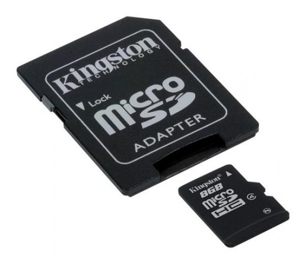 MICRO SD  8GB KINGSTON + SD adapter SDC48GB