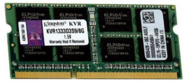 Memorija za notebook Kingston DDR3 8GB 1333MHz