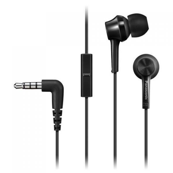 PANASONIC slušalice sa mikrofonom RP-TCM105E-K crne