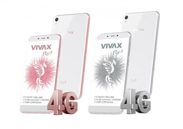 VIVAX SMART Fly 3 LTE rose gold telefon