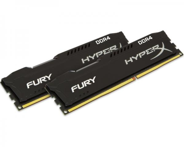 KINGSTON DIMM DDR4 16GB (2x8GB kit) 2666MHz HX426C15FBK2/16 HyperX Fury Black