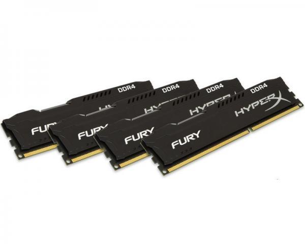 KINGSTON DIMM DDR4 32GB (4x8GB kit) 2666MHz HX426C15FBK4/32 HyperX Fury Black