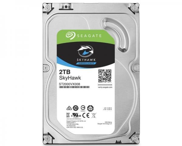 SEAGATE 2TB 3.5 SATA III 64MB ST2000VX008 SkyHawk Surveillance