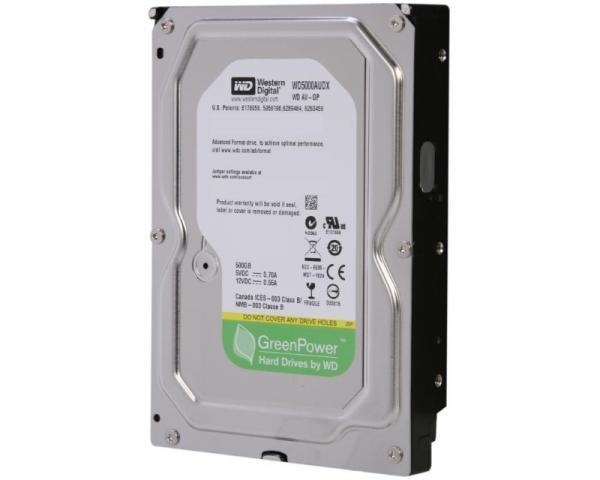 WD 500GB 3.5 SATA III 32MB 7.200 WD5000AUDX Caviar Green +