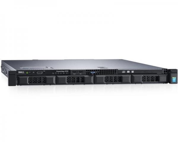 DELL PowerEdge R330 Xeon E3-1230 v5 4-Core 3.4GHz (3.8GHz) 16GB 300GB SAS 3yr NBD