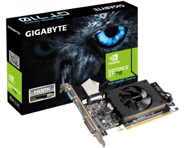 GIGABYTE nVidia GeForce GT 710 2GB 64bit GV-N710D3-2GL rev 2.0