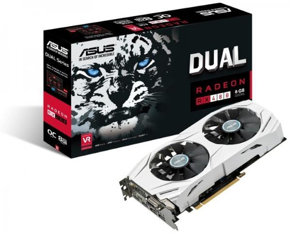 ASUS AMD Radeon RX 480 8GB 256bit DUAL-RX480-O8G