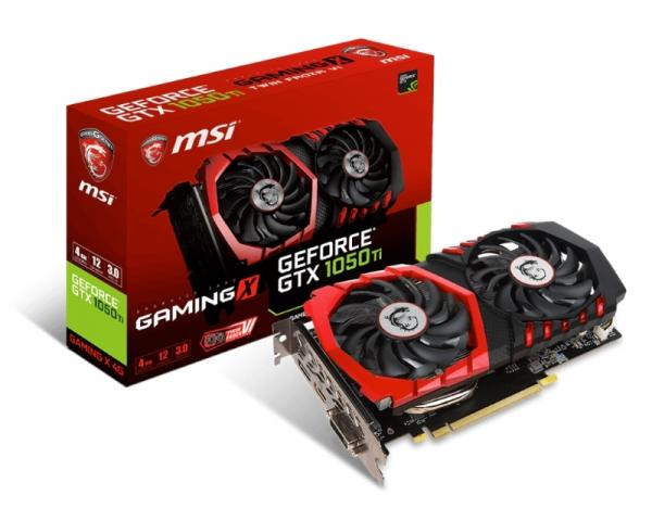 MSI nVidia GeForce GTX 1050 Ti 4GB 128bit GTX 1050 Ti GAMING X 4G