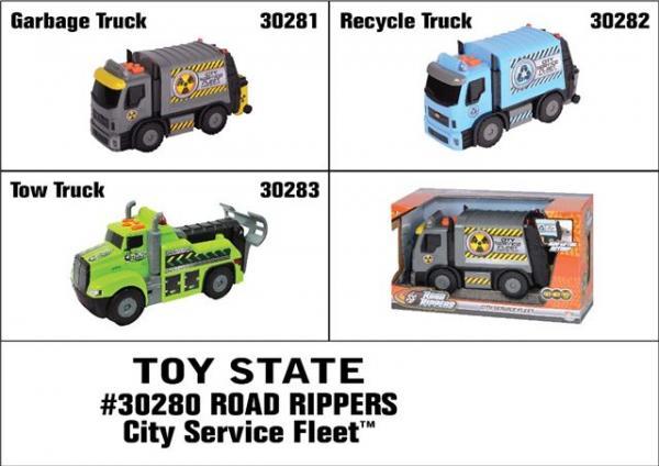 Kamion Road Rippers City Service Fleet 28 cm, svjetla i zvuk SORTO