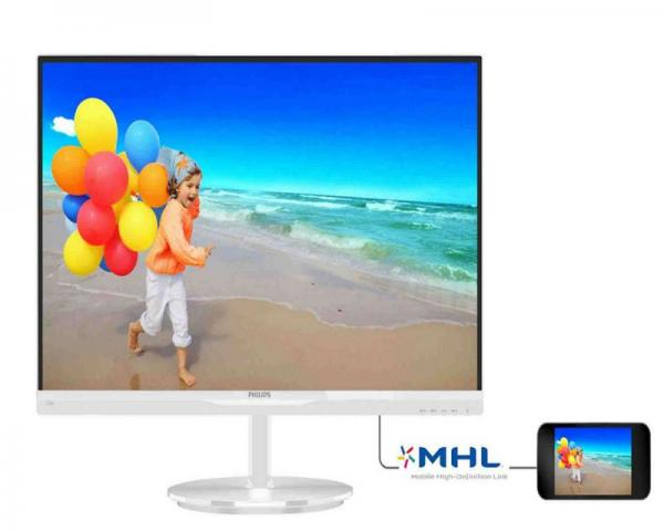 Philips LCD 23 234E5QHAW IPS Panel Full HD VGA, HDMI, MHL, zvučnici, beli