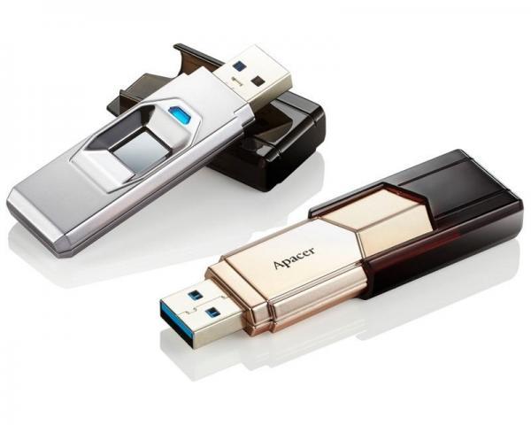 APACER 64GB AH650 Fingerprint USB 3.0 flash srebrni