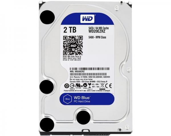 WD 2TB 3.5 SATA III 64MB 5.400rpm WD20EZRZ Blue