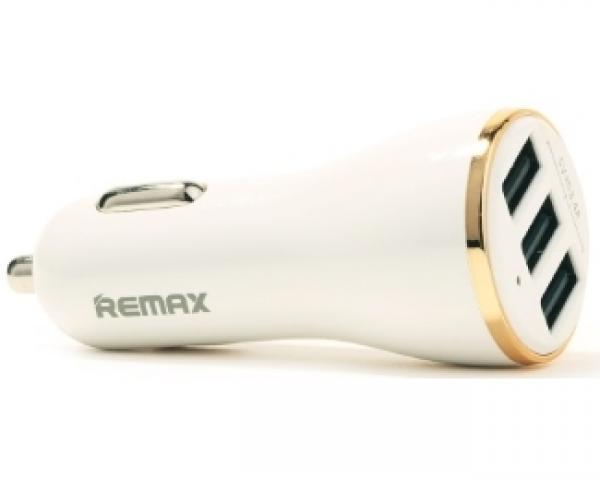 REMAX Auto punjac Dolfin 3x USB 3.4A beli