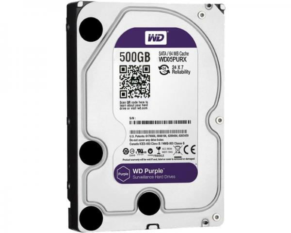 WD 500GB 3.5 SATA III 64MB IntelliPower WD05PURX Purple