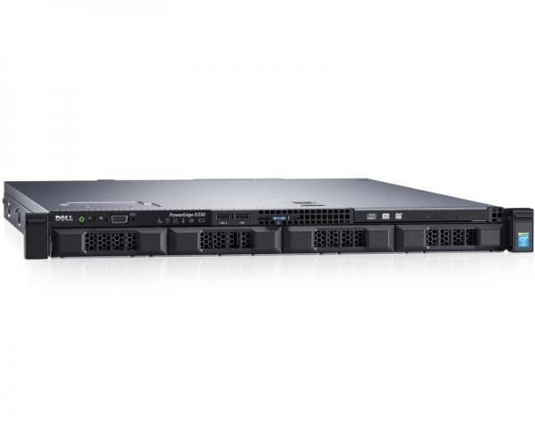 DELL PowerEdge R330 Xeon E3-1230 v5 4-Core 3.4GHz (3.8GHz) 8GB 0TB 3yr NBD