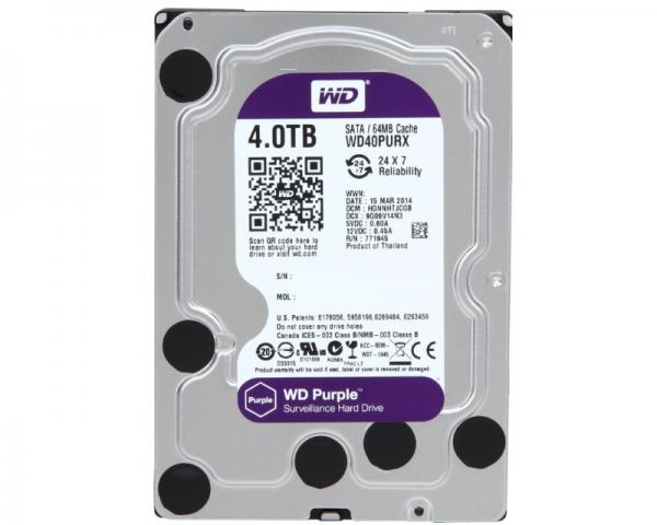 WD 4TB 3.5 SATA III 64MB IntelliPower WD40PURX Purple