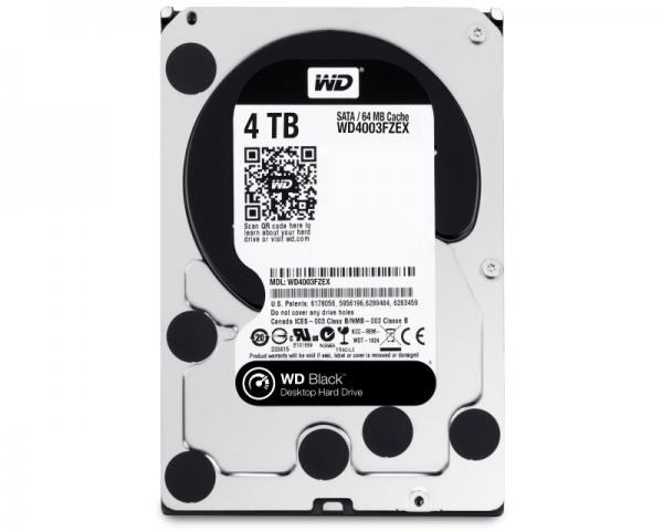 WD 4TB 3.5 SATA III 64MB 7.200rpm WD4003FZEX Black
