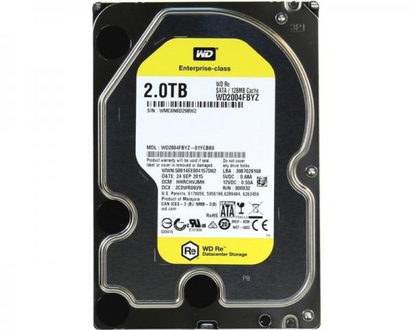 WD 2TB 3.5 SATA III 128MB 7.200rpm WD2004FBYZ Re