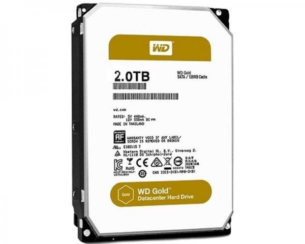 WD 2TB 3.5 SATA III 128MB 7.200 WD2005FBYZ Gold