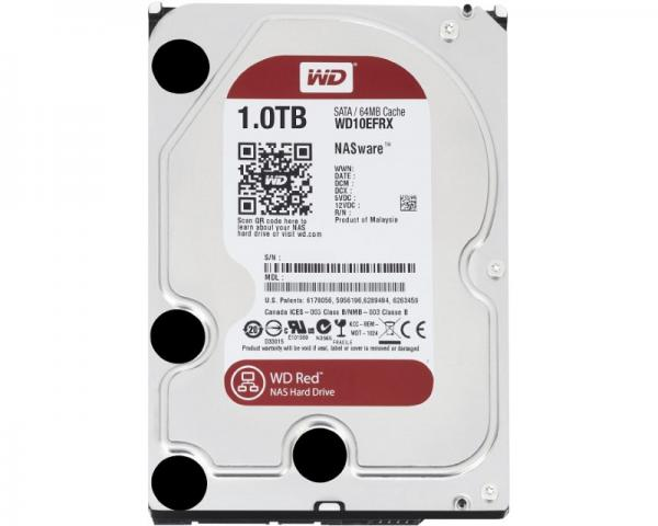 WD 1TB 3.5 SATA III 64MB IntelliPower WD10EFRX Red
