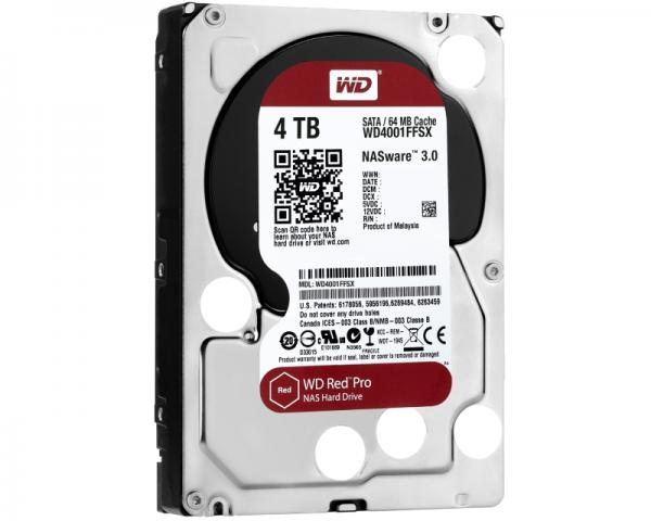 WD 4TB 3.5 SATA III 64MB 7.200rpm WD4001FFSX Red Pro