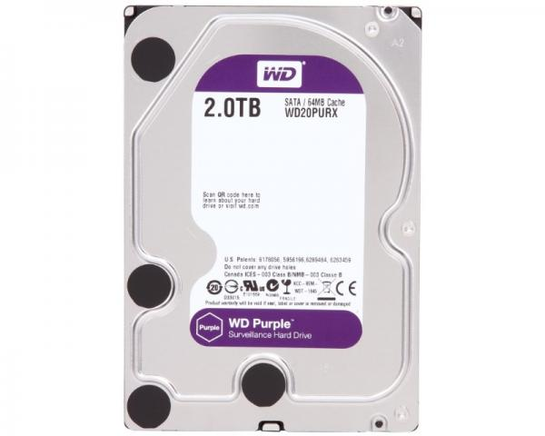 WD 2TB 3.5 SATA III 64MB IntelliPower WD20PURX Purple