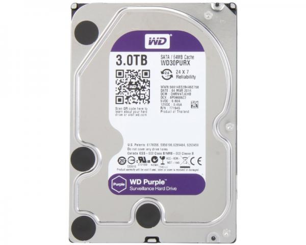 WD 3TB 3.5 SATA III 64MB IntelliPower WD30PURX Purple