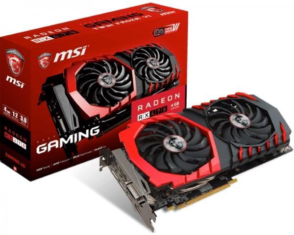 MSI AMD Radeon RX 470 4GB 256bit RX 470 GAMING 4G