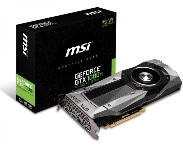 MSI nVidia GeForce GTX 1080 Ti 11GB 352bit GTX 1080 Ti Founders Edition