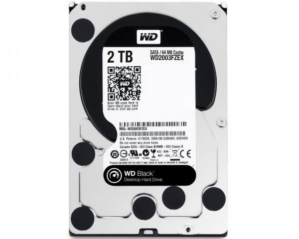 WD 2TB 3.5 SATA III 64MB 7.200rpm WD2003FZEX Black