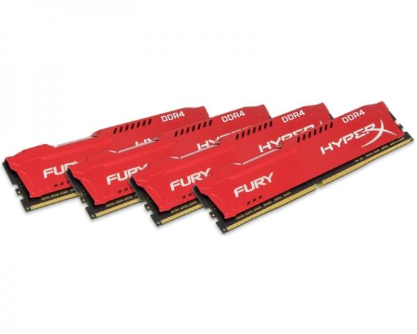 KINGSTON DIMM DDR4 64GB (4x16GB kit) 2400MHz HX424C15FRK4/64 HyperX Fury Red