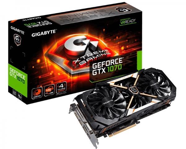 GIGABYTE nVidia GeForce GTX 1070 8GB 256bit GV-N1070XTREME-8GD
