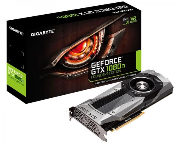 GIGABYTE nVidia GeForce GTX 1080ti 11GB 352bit GV-N108TD5X-B 1.0