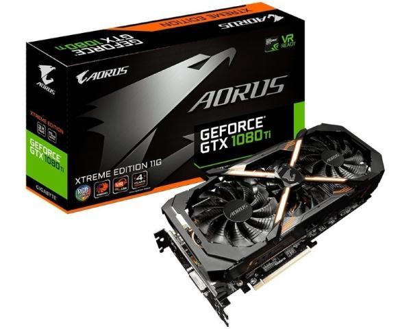 GIGABYTE nVidia GeForce GTX 1080ti 11GB 352bit GV-N108TAORUS X-11GD 1.0