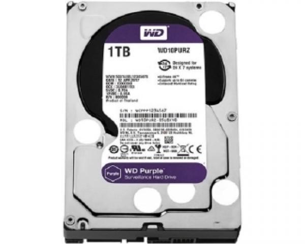 WD 1TB 3.5 SATA III 64MB IntelliPower WD10PURZ Purple