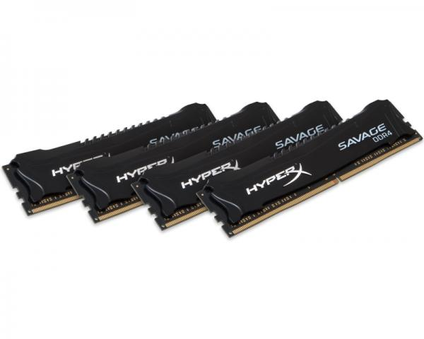 KINGSTON DIMM DDR4 16GB (4x4GB kit) 2400MHz HX424C12SB2K4/16 HyperX XMP Savage