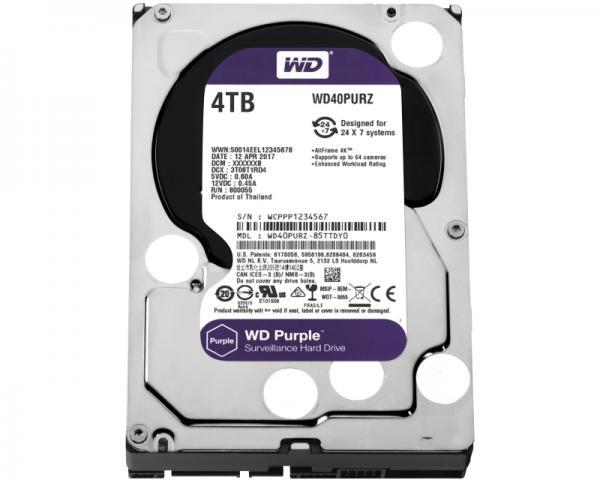 WD 4TB 3.5 SATA III 64MB IntelliPower WD40PURZ Purple